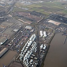 Aerial view of Immingham west terminal