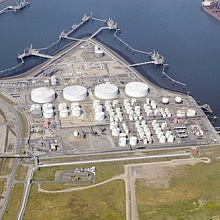 Aerial view of Seal Sands terminal