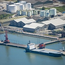 Aerial view of Shannon terminal