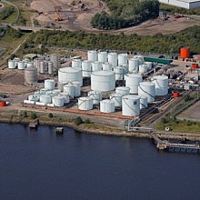 Aerial view of Tyne terminal