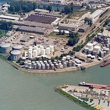 Aerial view of Mannheim South terminal