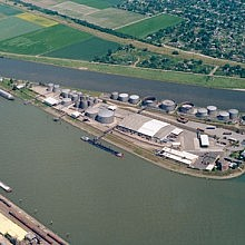 Aerial view of Mannheim North terminal