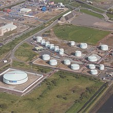Aerial view of Riverside terminal