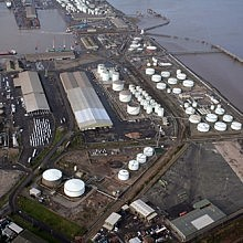 Aerial view of Immingham east terminal