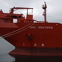 Specialist oil rig support vessel Siri Knutsen discharged Produced Sea Water (PSW)