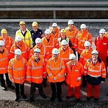 The team tours the Immingham West Terminal
